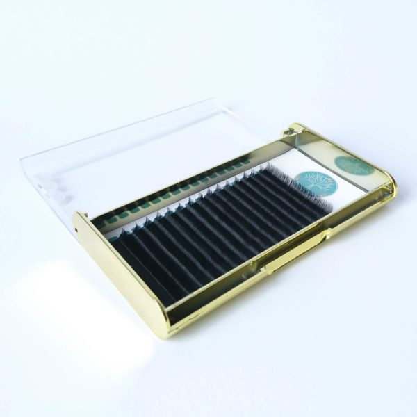wimpern volume gold tray open