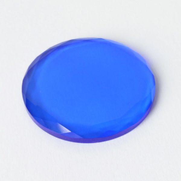 kristal farbig - dunkelblau